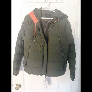 Zara men winter jacket Medium. Olive green